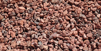 Decorative and landscape rock phoenix kilauea crushers for Red decorative rocks for landscaping